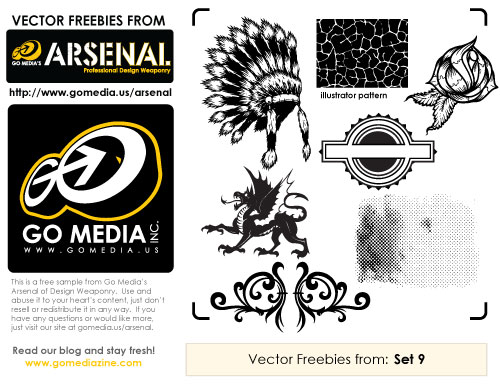 Set 9 free sample vectors
